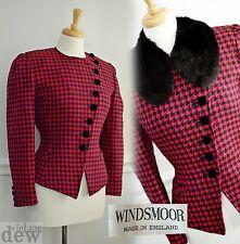 WINDSMOOR tweed jacket COAT 1930's 40's EDWARDIAN STYLE riding VELVET BUTTONS 14