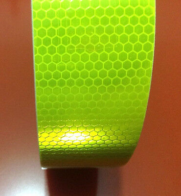 """Fluorescence Yellow Reflective Safety Warning Conspicuity Tape 2""""X10' 3m #B15"""