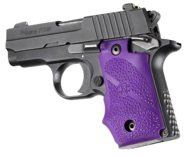Hogue 38006 Sig Sauer P238 Rubber Gripfinger Grooves Purple