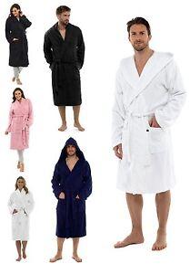Image is loading Mens-Ladies-100-Cotton-Towelling-Bath-Robe-Dressing- 5c06ec174