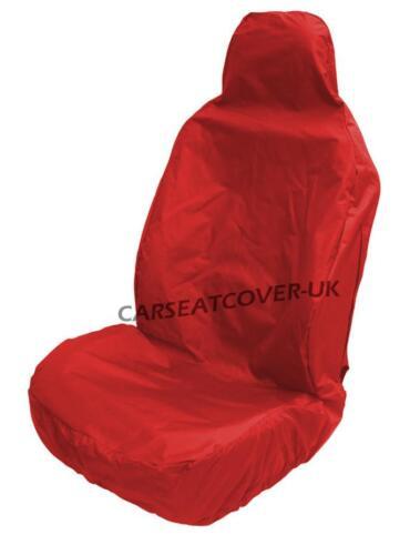 FIAT GRANDE PUNTO VAN  RED WATERPROOF FRONT SEAT COVER SINGLE