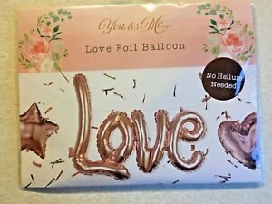 ROSE GOLD FOIL NO HELIUM REQUIRED  53cm x 77cm LOVE BALLOON