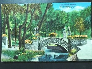 Vintage-Postcard-gt-1930-1945-gt-Cobblestone-Bridge-gt-Glen-Miller-Park-gt-Richmond-gt-Indiana