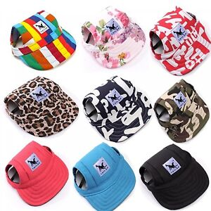 Tail Up Pet Dog Hat Baseball Hat Summer Canvas Cap Only For Small ... 7800624b806c