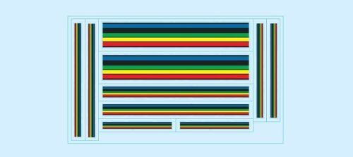 Bicycle Decals-Transfers-Stickers #4 Olympic Stripes