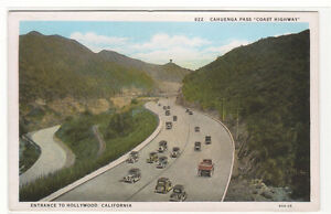 Cahuenga-Pass-Coast-Highway-Hollywood-California-1920s-postcard