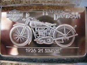 1 4 Oz 999 Silver 1926 21 Single 90th Anniv Harley Bar
