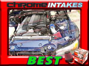 K&N+BLUE RED 98-00 BMW Z3 Z COUPE/ROADSTER 3.2L I6 E36 AIR INTAKE INDUCTION KIT