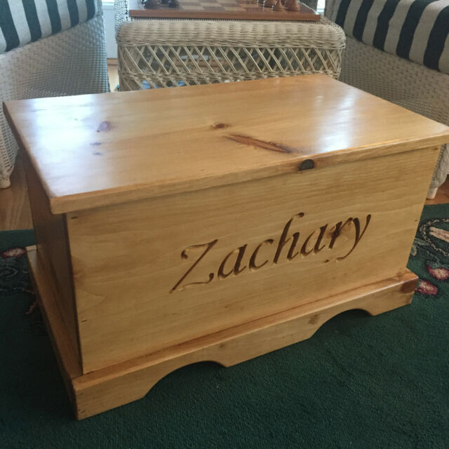 Fabulous Personalized Toy Chest Kids Storage Wooden Box Children Keepsake Baby Gift Wood Caraccident5 Cool Chair Designs And Ideas Caraccident5Info
