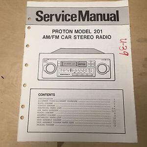 Details about Original Proton Service Manuals for Car Audio Radio Components