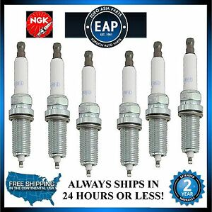NGK Laser Platinum Set of 6 Spark Plugs For BMW E82 E92 F25 128i 328i 528i Z4
