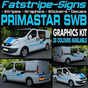 NISSSAN PRIMASTAR SWB STRIPES GRAPHICS STICKERS CAMPER VAN MOTORHOME CONVERSION