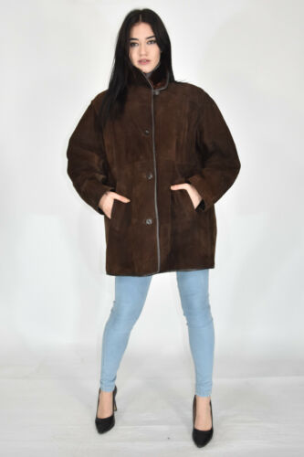 VINTAGE Sheepskin Coat Sheepskin Suede Leather Fur