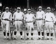 Babe Ruth,Frank homerun Baker,Bob Meusel,Wally Pipp,Roger Peckinpaugh 8x10 yanks