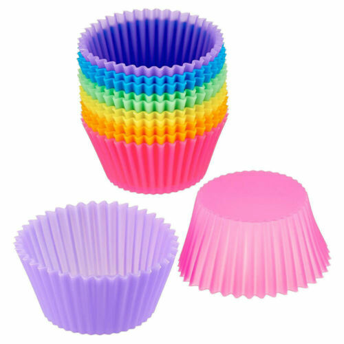 10Pcs Silicone Muffin Cake Cupcake Mould for Kitchen DIY Cooking Bakeware Tool