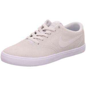 Details zu Nike Skater Sneaker SB CHECK SOLAR 843895 007 vast grey Leder NEU