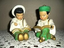 VINTAGE ASIAN ORIENTAL JAPANESE CHINESE STATUES FIGURINES BOOKENDS BOOK ENDS