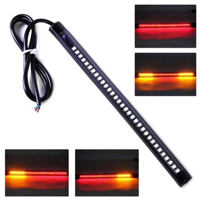 32-LED Motorrad Bremsleuchten Blinker Rücklicht Flexibel Streifen Lamp Universal