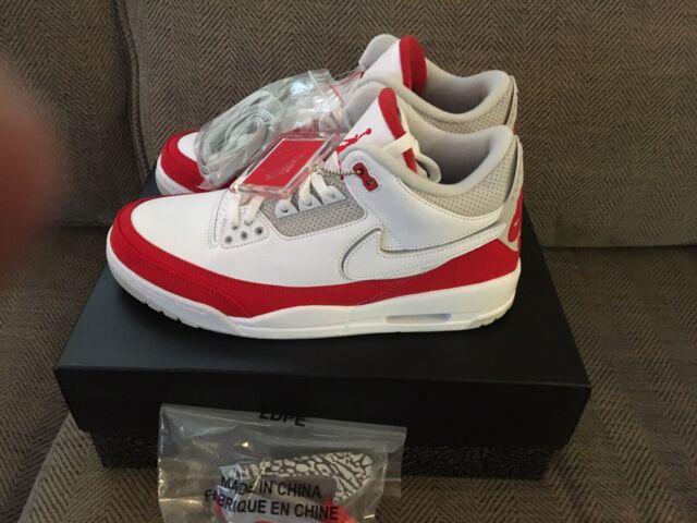 premium selection d9b02 a8b29 Nike Air Jordan 3 Retro Th SP Tinker Hatfield Air Max 1 Aj3 White Red Size  13