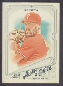 Topps-Allen-amp-Ginter-2018-Base-256-Jake-Arrieta-Philadelphia-Phillies