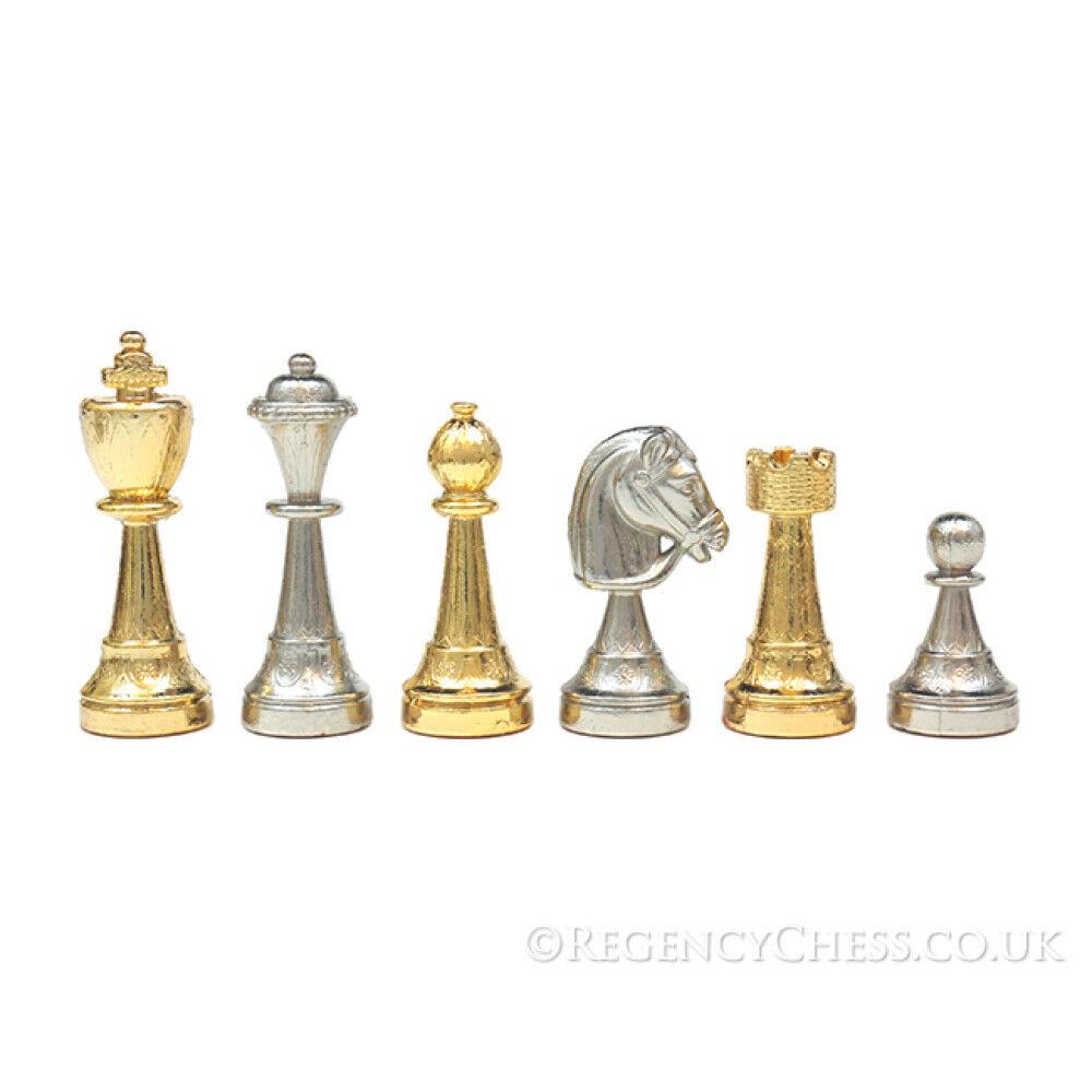 The Messina oro e  argentooo Placcato Italiano Chessmen  risparmiare fino all'80%