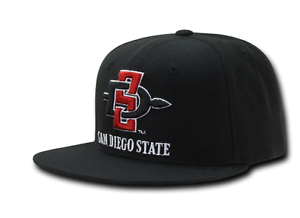 3df61392c1db3 SDSU San Diego State University Aztecs NCAA Flat Bill Snapback ...