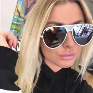 723a26d08e BRAND NEW QUAY X Kylie Jenner White Iconic Aviator Sunglasses