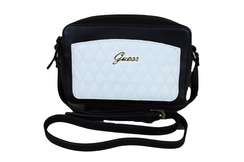 GUESS Damen Umhängetasche Tasche Handtasche Schultertasche schwarz - weiss   Großer Verkauf