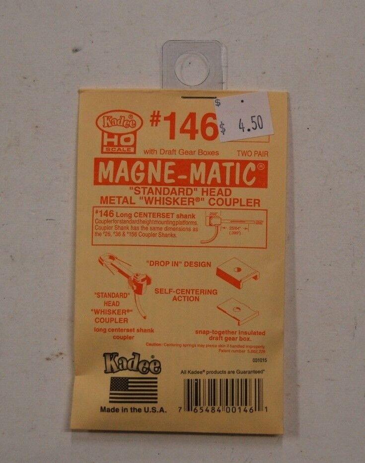 "Kadee HO Scale #147 Underset /""Whisker/"" Medium 9//32/"" Metal Magne-matic Coupler"