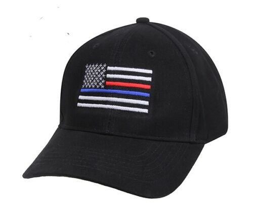 Thin Blue Line and Red Line Low Profile Flag Cap 8754