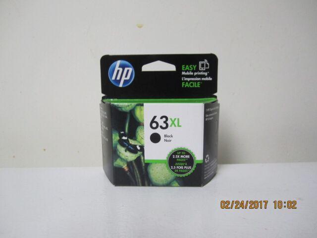 HP 63XL Black Ink Cartridge (F6U64AN), High Yield EXP MAR, 2020