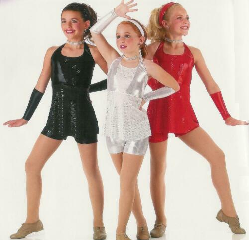 Adult XL RED Sequin Shorts Jazz Tap Dance Hip Hop Costume