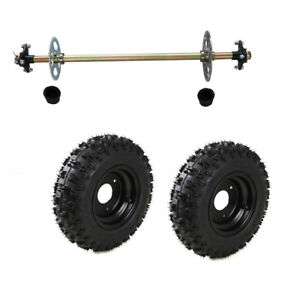 e4d0378fe9 Kids Go Kart Rear Axle Kit Complete Wheel Hub + Pair 4.10-6 Tires ...