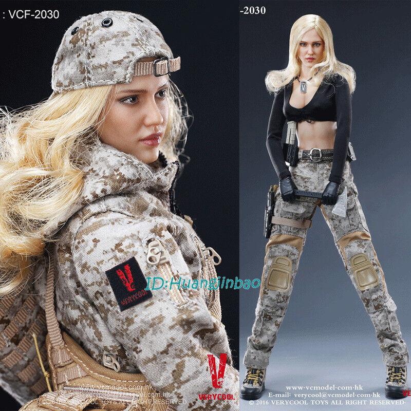 Verycool VCF-2030 Camuflaje Femenino Soldado Max modelo de escala 1 6 En Caja En Stock