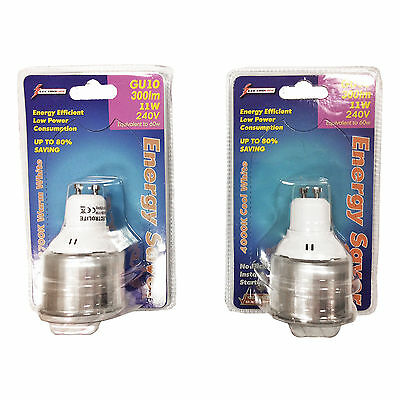 GU10 WARM WHITE 11w ECO LIGHT BULB 1 3 6 8 10 12 OR 20 PACK SPOTLIGHT GLOBE LAMP