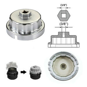 Oil-Filter-Wrench-Cap-Socket-Housing-Tool-Removal-14-Flutes-Universal-For-Toyota