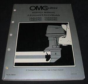 Wohltuend FüR Das Sperma 2.6 Litre Models Reparaturanleitung 1981 Service Manual Omc Sea Drive 2.5