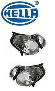 for mercedes w211 set of left right headlight assemblies. Black Bedroom Furniture Sets. Home Design Ideas