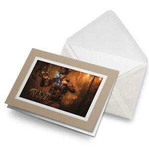 Greetings-Card-Biege-Steampunk-Magician-Magic-14534