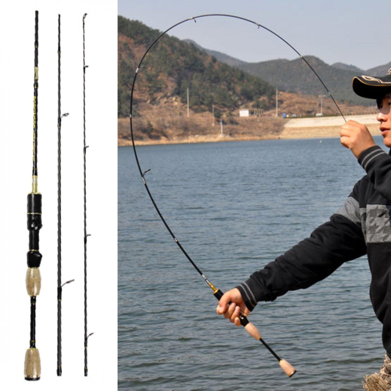 Spinning Fishing Rod Carbon Fiber 1.8 Pole Portable Ultra Light Rods Travel Lure