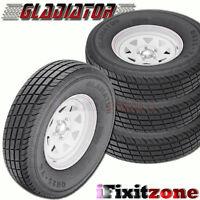4 Gladiator Qr-25 235/85r16 128/124 Trailer Tires Load F 12 Ply 235/85/16 on Sale