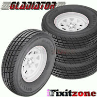 4 Gladiator Qr-25 235/85r16 128/124 Trailer Tires Load F 12 Ply 235/85/16 on Sale