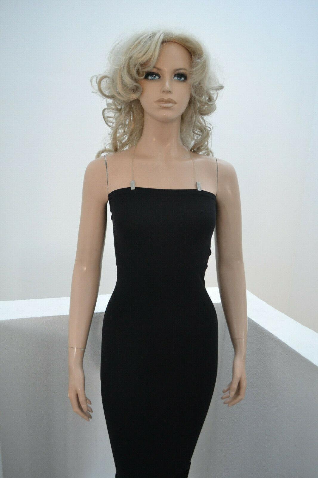 Wolford Fatal Dress Kleid Tube Top Rock schwarz schwarz mit Spaghettiträger