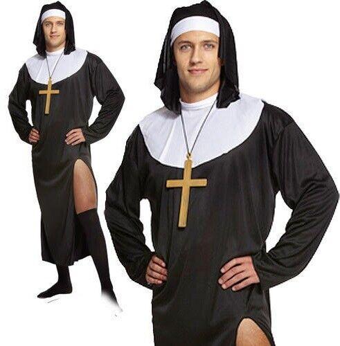 Adult Mens Nun Novelty Sister Habit Stag Do Fancy Dress Costume Outfit U37 164