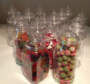 20-x-1L-MIXED-Retro-Plastic-Sweet-Jars-for-Candy-Sweet-Buffet-Wedding-Storage