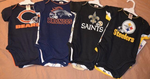 NFL Gerber Baby 3-6 Months Onesies Bears Broncos Saints Steelers Bodysuits  3pk efb5b934e