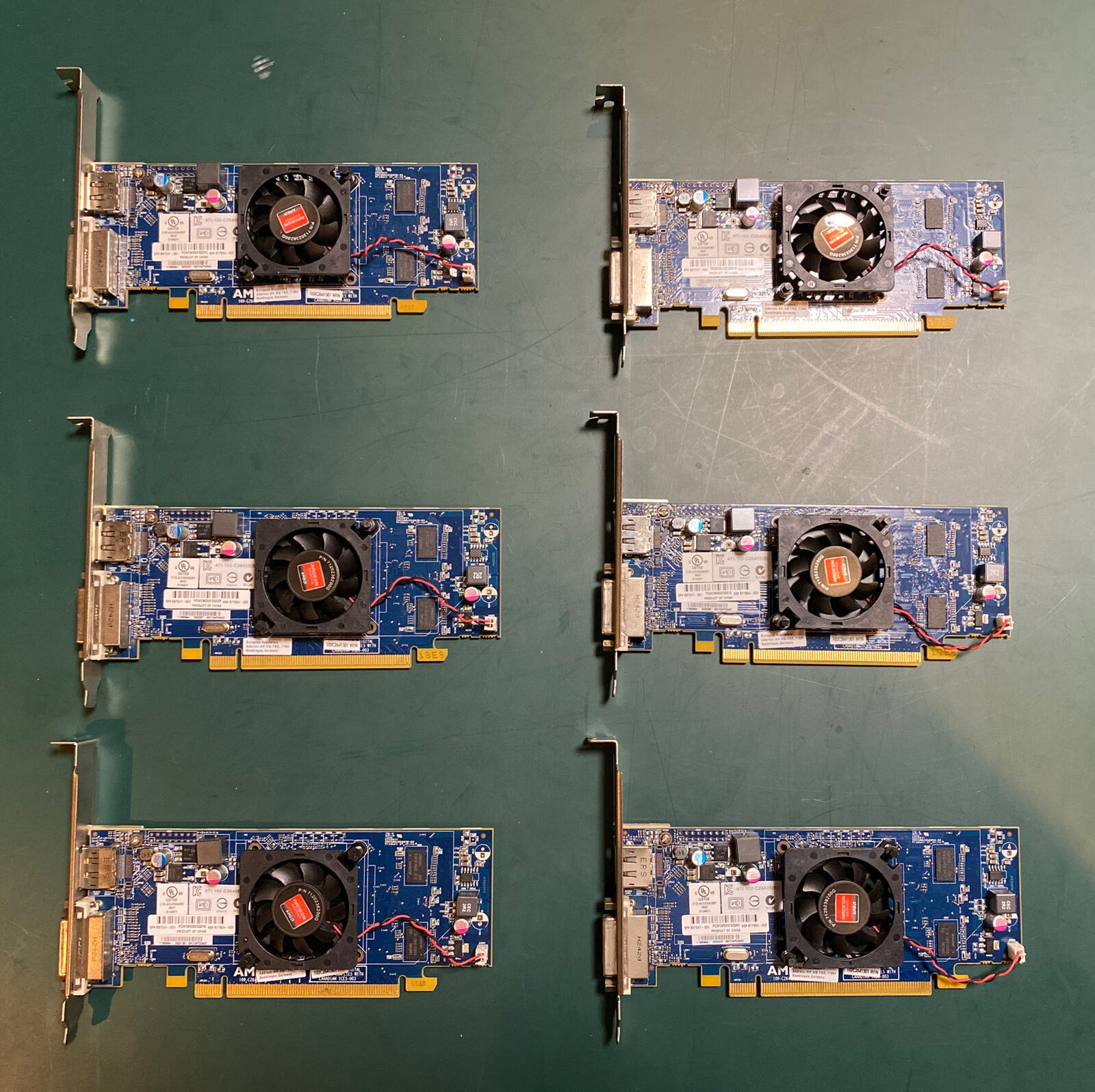 [Lot of 6] HP Radeon HD 7450 DP 1GB - All Tested and Cleaned