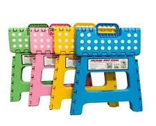 Heavy Duty Plastic Step Stool Foldable Multi Purpose Home Kitchen Use