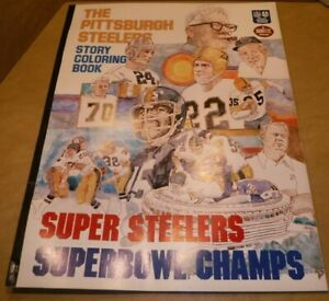 RARE-PITTSBURGH-STEELERS-1976-SUPER-BOWL-CHAMPS-OVERSIZED-COLORING-BOOK-ROONEY
