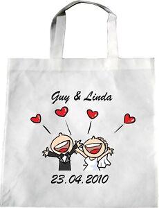 6 x personalised wedding tote bag bride bridesmaid hens flowergirl